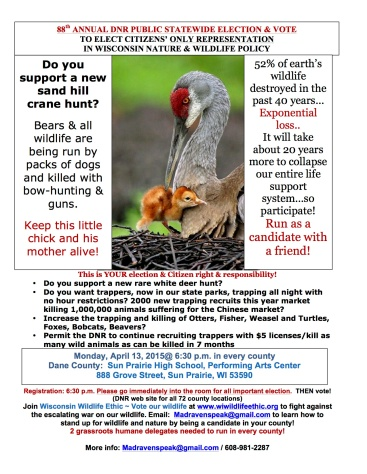 Wildlife Ethic 2015 Poster Sand Hill Crane and Chick 8 X 11 format final