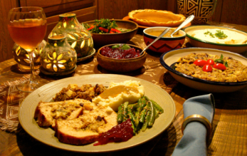 vegan vurkey dinner